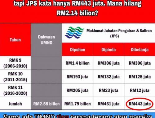 Adakah UMNO TIPU terang-terang ataupun UMNO telah TELAN RM2.14 bilion yang selebihnya?
